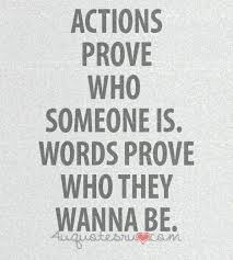Actions over Words