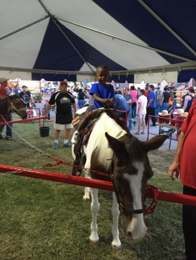 Pony ride at Frederick Fair 2015