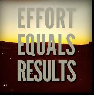 Effort Equals Results