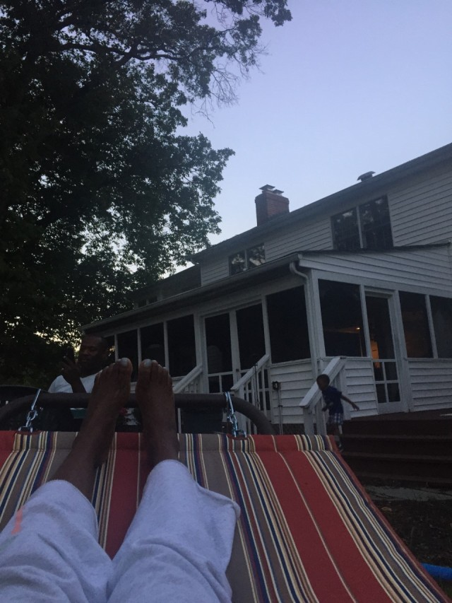 Relaxing out back