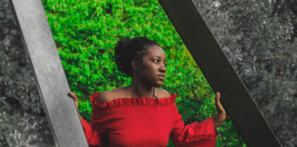 black woman reflective